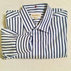 Tommy Bahama | Blue Striped Shirt (18.5)
